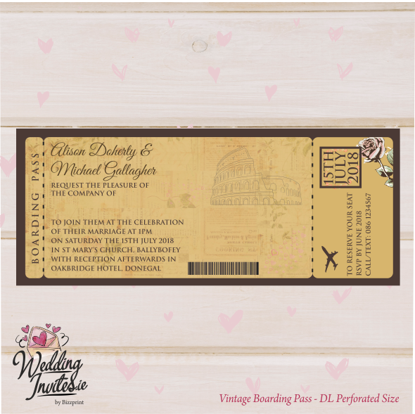 Ticket Style Boarding Pass