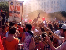Live From The Streets Of Copacabana, Brazil: Party And Protest