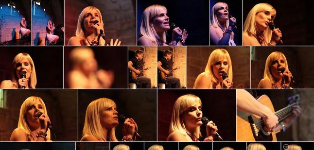 multiples portraits elfy KA et ses musiciens en concert