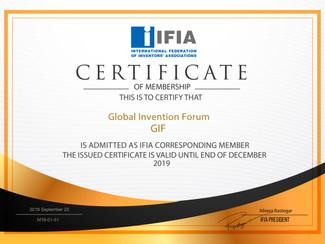 Всемирный изобретательский форум (Global Invention Forum) официально стал членом Международной Федер