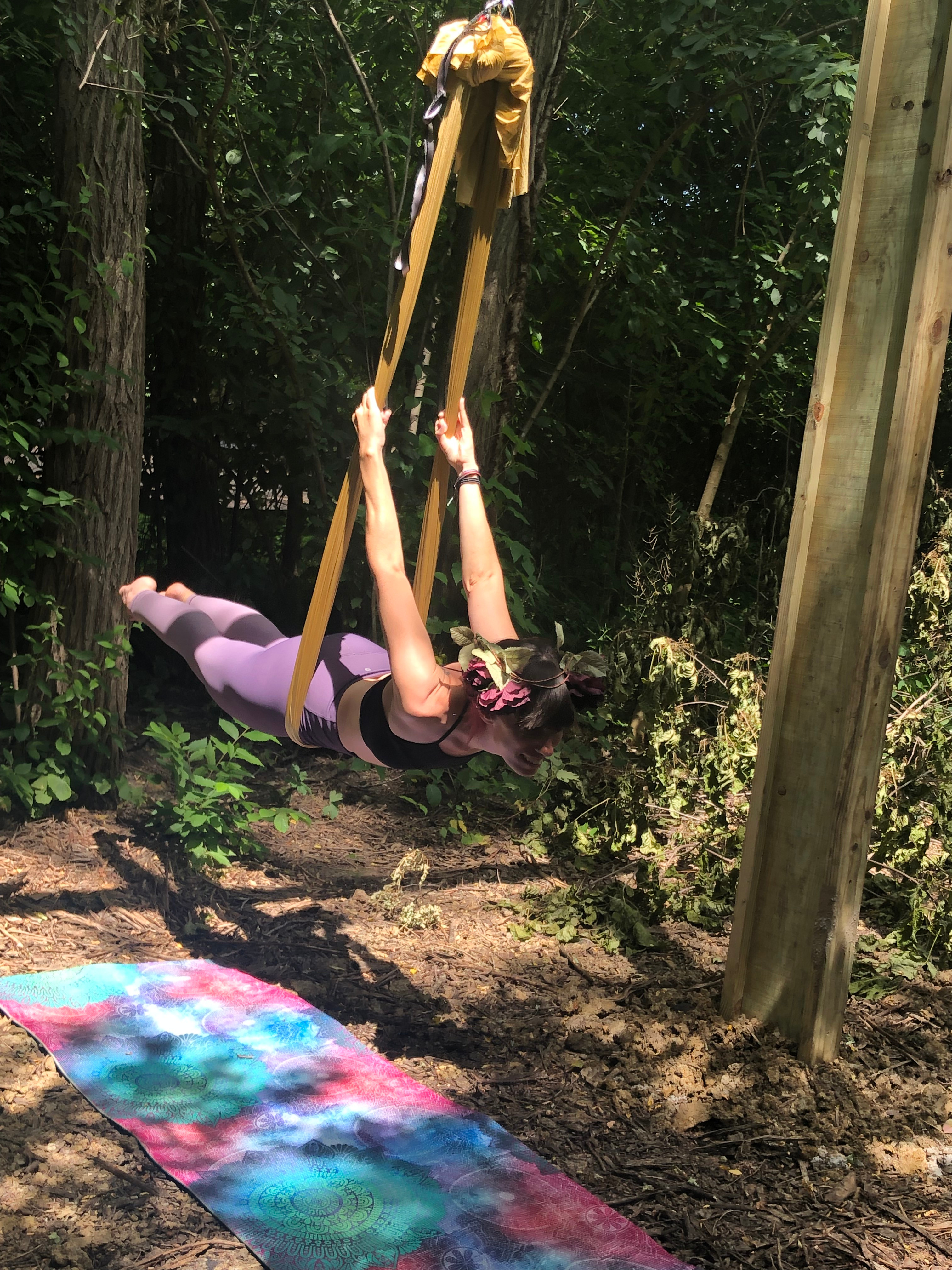 Garden Aerial Yoga - Outside