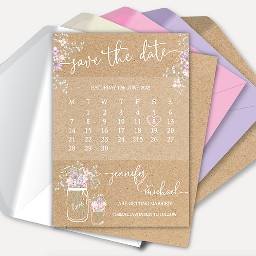 Rustic Bloom Save the Date