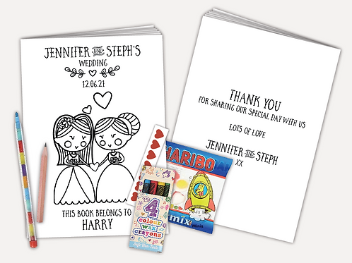 Personalised Activity Pack - Bride and Bride