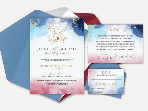 Disney Inspired Day Invitation, RSVP & Info Card