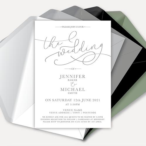 Simplicity Day Invitation
