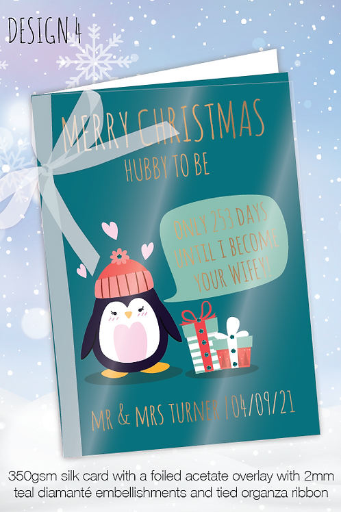 Countdown Personalised Christmas Card - Design 4