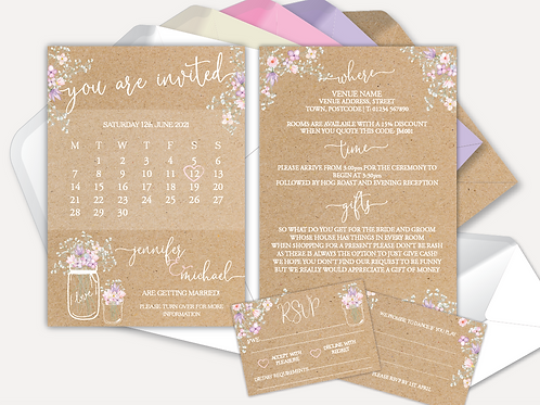 Rustic Bloom Day Invitation & RSVP