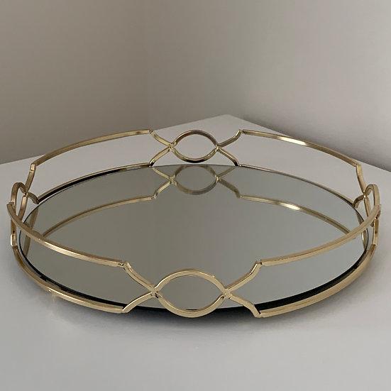 Monet | Gold Trim Mirrored Tray