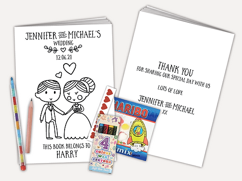Personalised Activity Pack - Bride and Groom