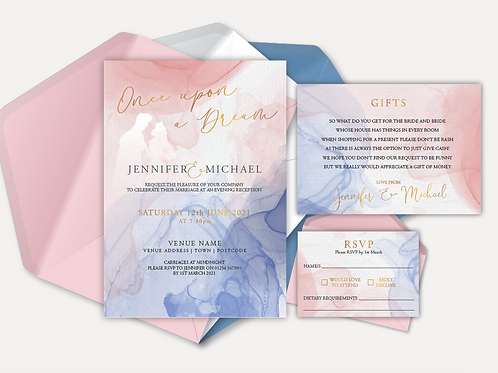 Disney Inspired Evening Invitation, RSVP & Info Card