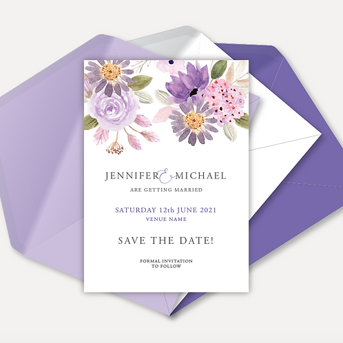 Lilac Bloom Save the Date