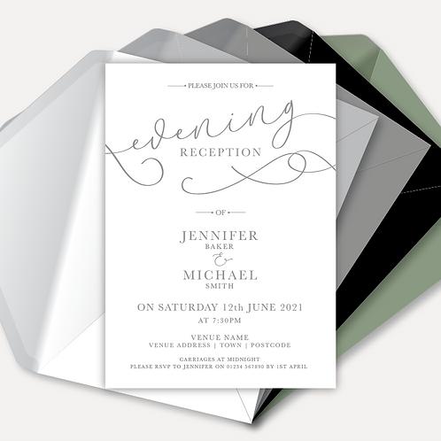 Simplicity Evening Invitation