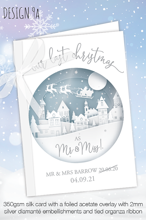 Personalised Christmas Card for Postponed Wedding - Design 9