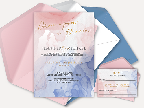 Disney Inspired Evening Invitation & RSVP