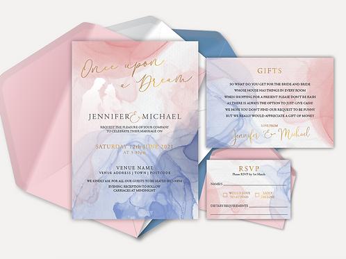 Disney Inspired Day Invitation, RSVP & Info Card