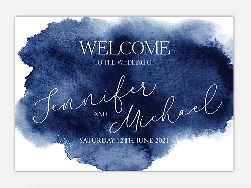 Watercolour Wedding Signs
