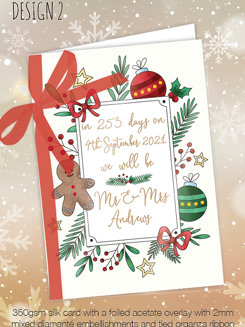 Countdown Personalised Christmas Card - Design 2