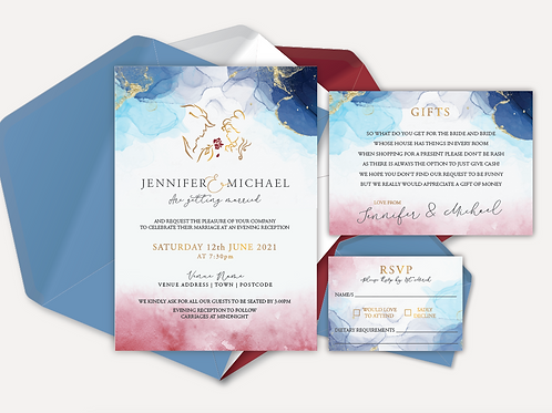 Disney Inspired Evening Invitation, RSVP & Info Card