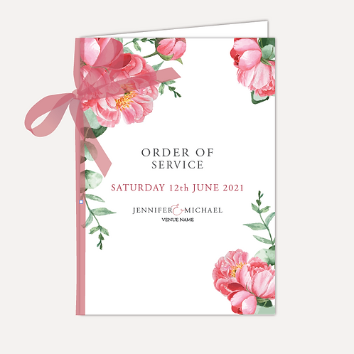 Pink Peony Order of Service