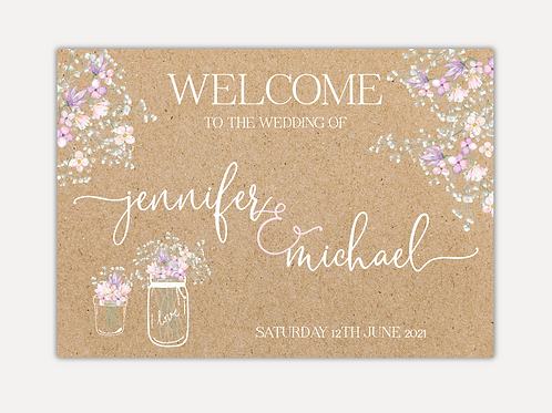 Rustic Bloom Wedding Signs