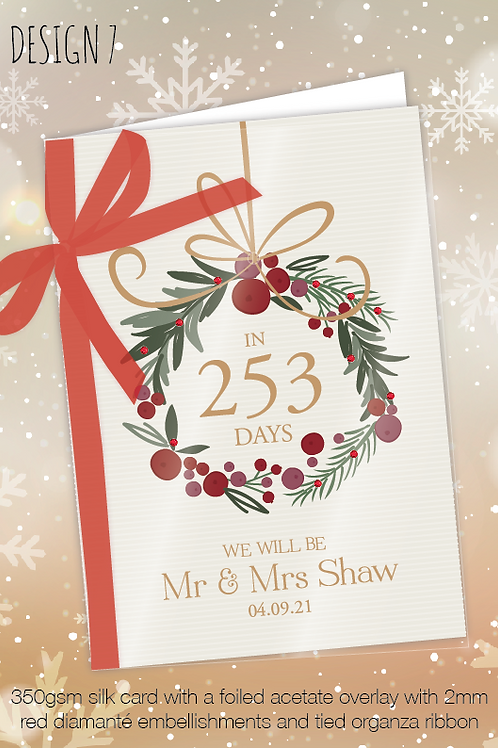 Countdown Personalised Christmas Card - Design 7