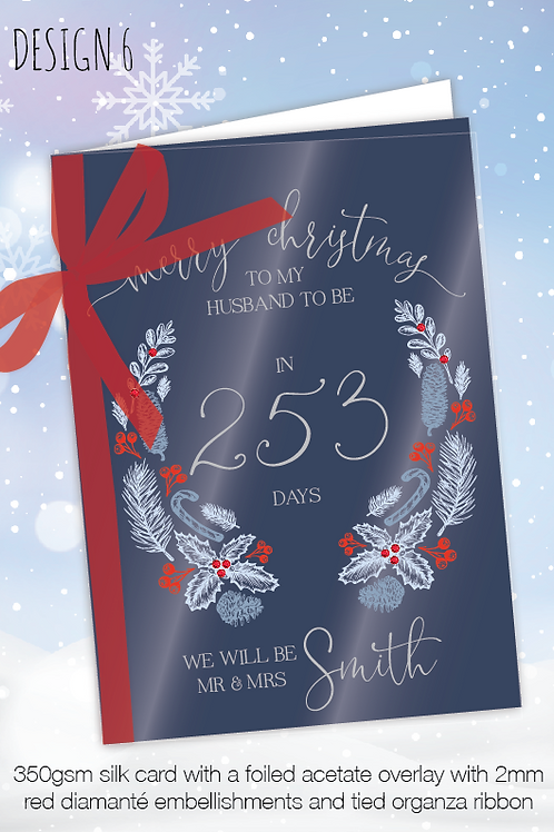 Countdown Personalised Christmas Card - Design 6