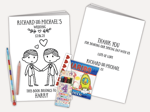 Personalised Activity Pack - Groom and Groom