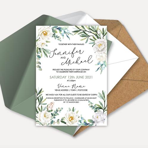 White Rose Day Invitation