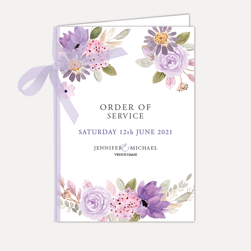 Lilac Bloom Order of Service