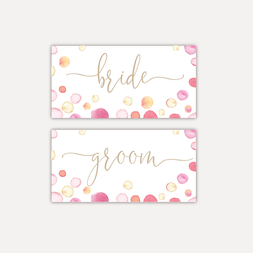 Watercolour Confetti Placecards
