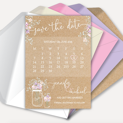 Rustic Bloom Magnetic Save the Date