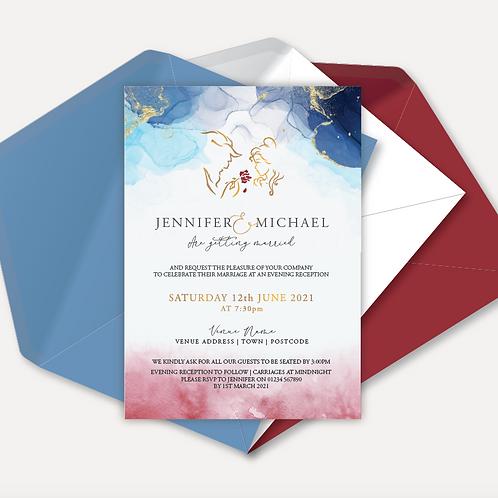 Disney Inspired Evening Invitation