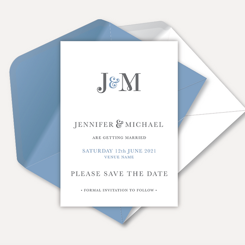 Modern Monogram Magnetic Save the Date