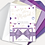 Thumbnail: Watercolour Confetti Day Invitation, RSVP, Information Card with Ribbon