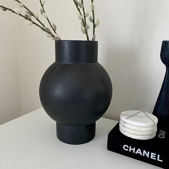 Anthracite Shaped Vase, 30CM