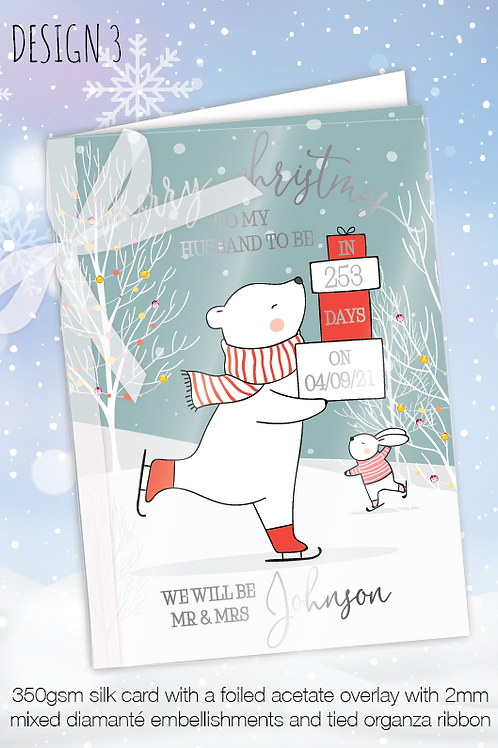 Countdown Personalised Christmas Card - Design 3
