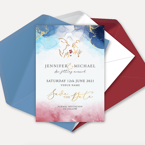 Disney Inspired Magnetic Save the Date