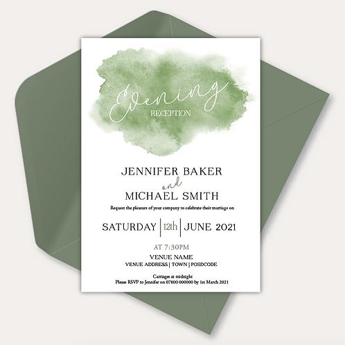 Watercolour Evening Invitation