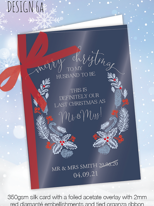 Personalised Christmas Card for Postponed Wedding - Design 6