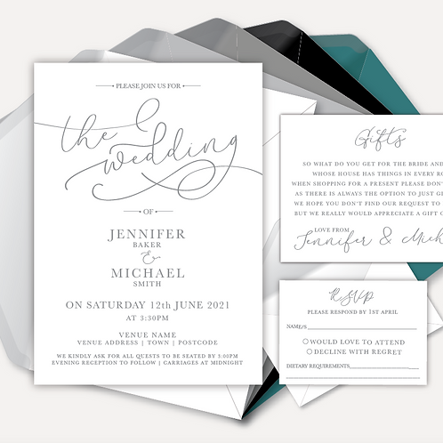 Simplicity Day Invitation, RSVP & Information Card