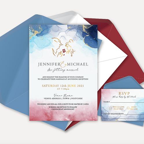 Disney Inspired Evening Invitation & RSVP