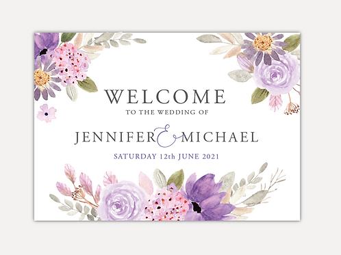 Lilac Bloom Wedding Signs