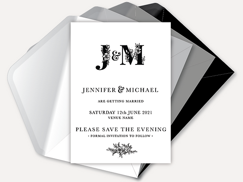 B&W Monogram Magnetic Save the Evening