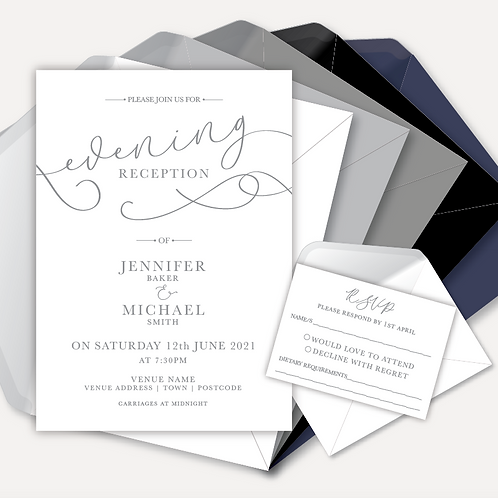 Simplicity Evening Invitation & RSVP
