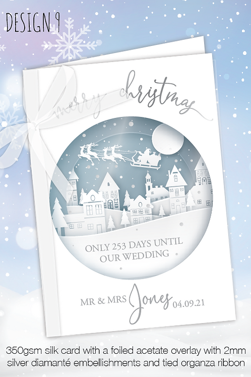 Countdown Personalised Christmas Card - Design 9