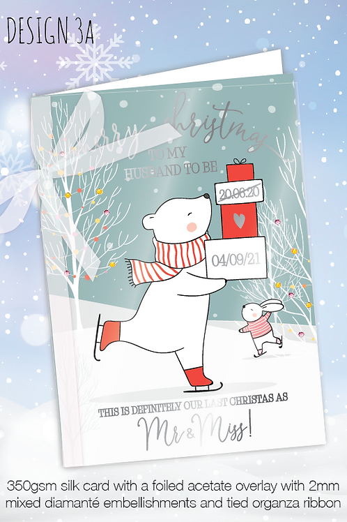 Personalised Christmas Card for Postponed Wedding - Design 3