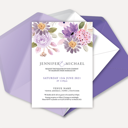 Lilac Bloom Day Invitation