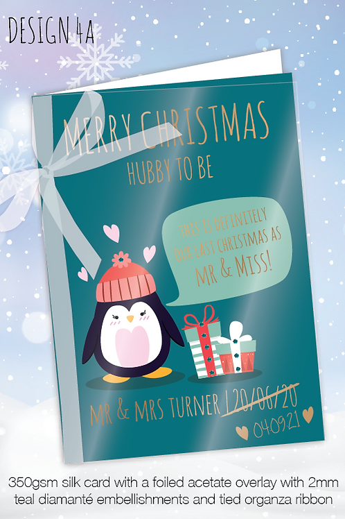 Personalised Christmas Card for Postponed Wedding - Design 4