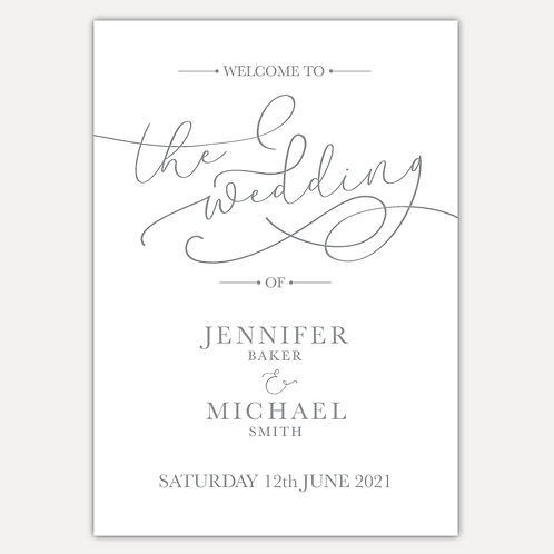 Simplicity Wedding Signs