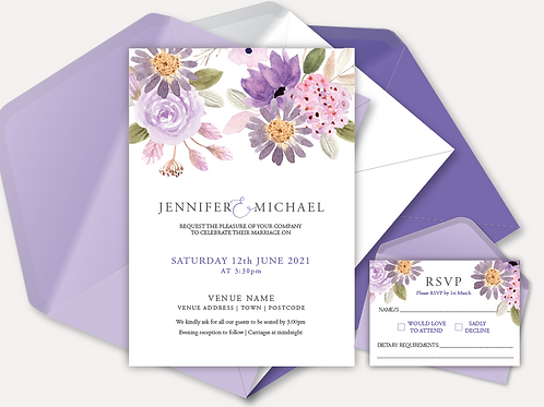 Lilac Bloom Day Invitation & RSVP